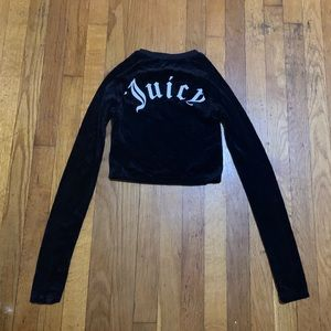 Juicy Couture Crop Long Sleeve Top Size XS